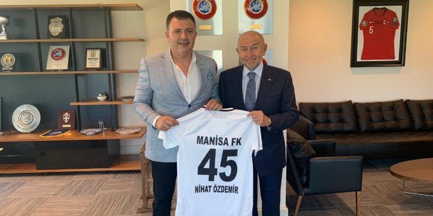 Başkan Aktan'dan TFF Başkanı Özdemir'e ziyaret