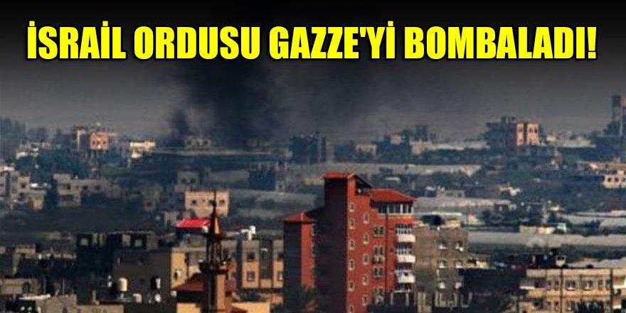 İsrail ordusu Gazze'yi bombaladı!