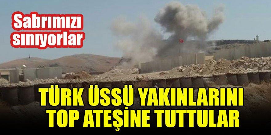 Türk üssü yakınlarını top ateşine tuttular