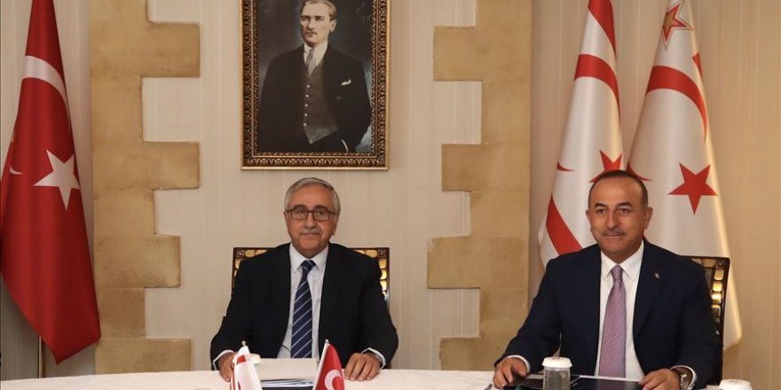 Turkish Cypriot leader receives Turkey's top diplomat