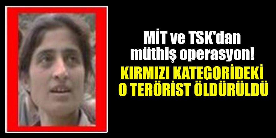 MİT ve TSK'dan müthiş operasyon! Kırmızı kategorideki o terörist öldürüldü