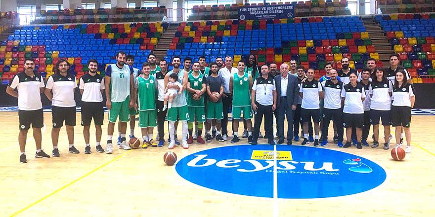 Altyapıdan Konyaspor Basket'e ziyaret