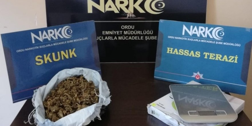 Ordu'da uyuşturucu operasyonuna 4 tutuklama