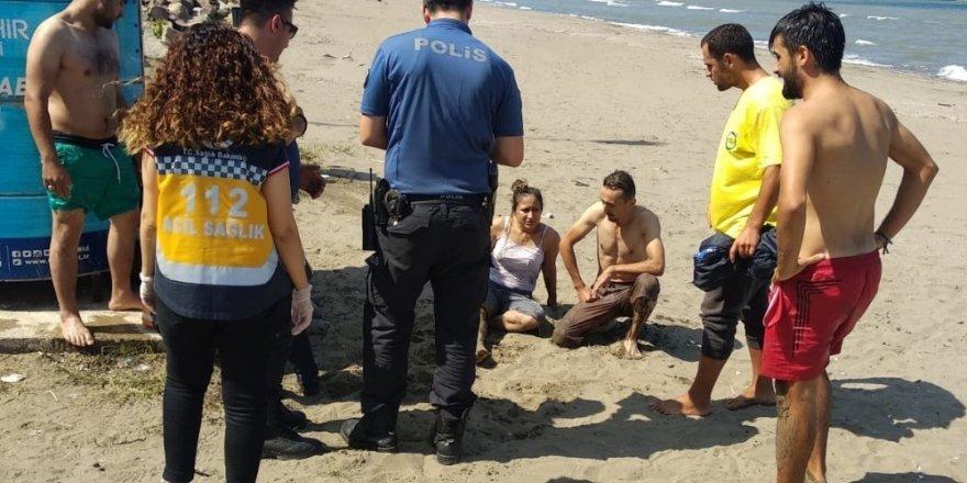 Genç kız son anda kurtarıldı