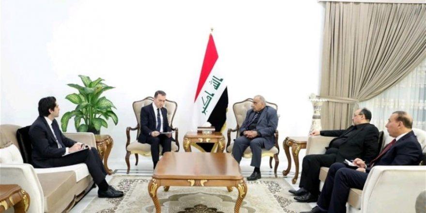 Irak Başbakanı Abdülmehdi, Türkiye Bağdat Büyükelçisi Yıldız'ı kabul etti