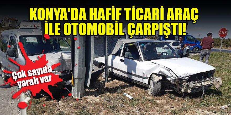 Konya'da hafif ticari araç ile otomobil çarpıştı: 7 yaralı