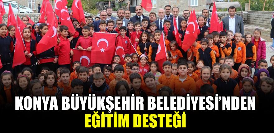 Konya Büyükşehir Belediyesi'nden eğitim desteği