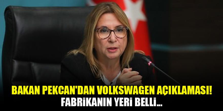 Bakan Pekcan'dan Volkswagen açıklaması! Fabrikanın yeri belli...