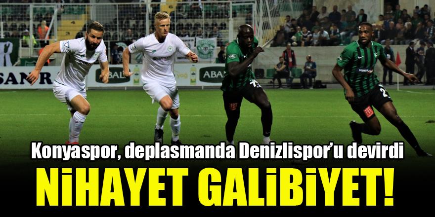 Konyaspor, deplasmanda Denizlispor'u devirdi! 'Nihayet galibiyet'