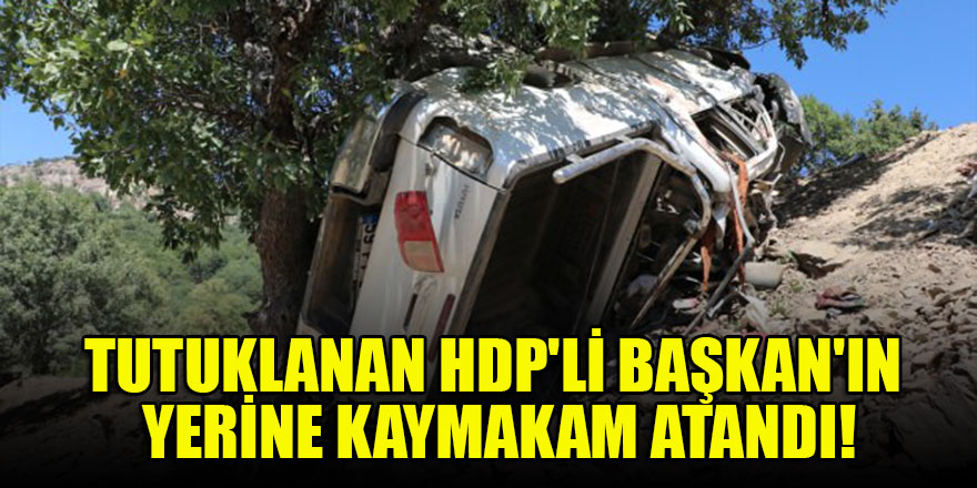 Tutuklanan HDP'li Başkan'ın yerine kaymakam atandı!