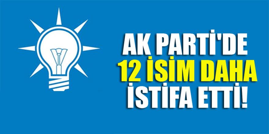 AK Parti'de 12 isim daha istifa etti