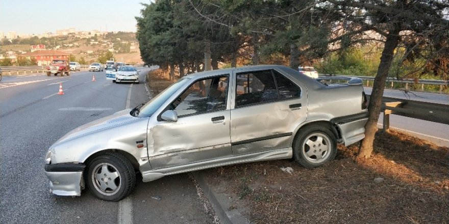 Samsun'da tır otomobile çarptı: 1 yaralı
