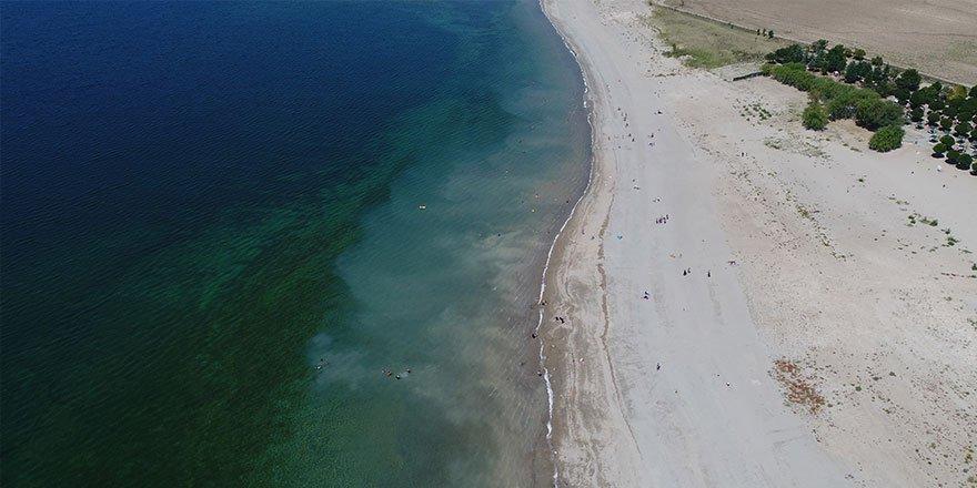 Bozkır'ın plajları sahili aratmıyor