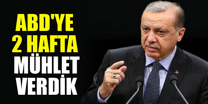 Türkiye'den ABD'ye 2 hafta mühlet