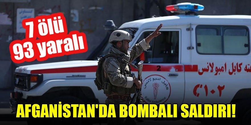 Afganistan'da bomba yüklü araçla saldırı: 7 ölü, 93 yaralı
