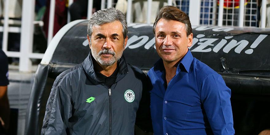 Konyaspor teknik direktörü Aykut Kocaman'ın ilk Göztepe yenilgisi
