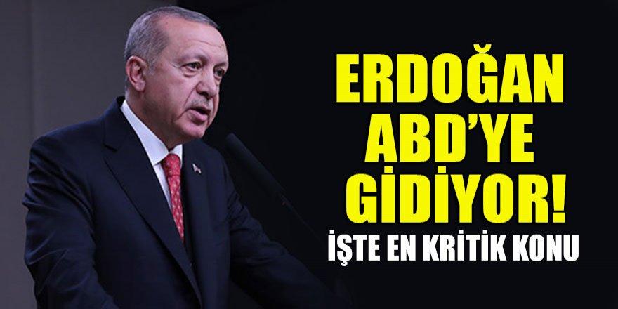 Erdoğan ABD'ye gidiyor İşte en kritik konu