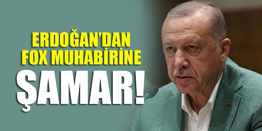 Erdoğan'dan FOX muhabirine şamar!
