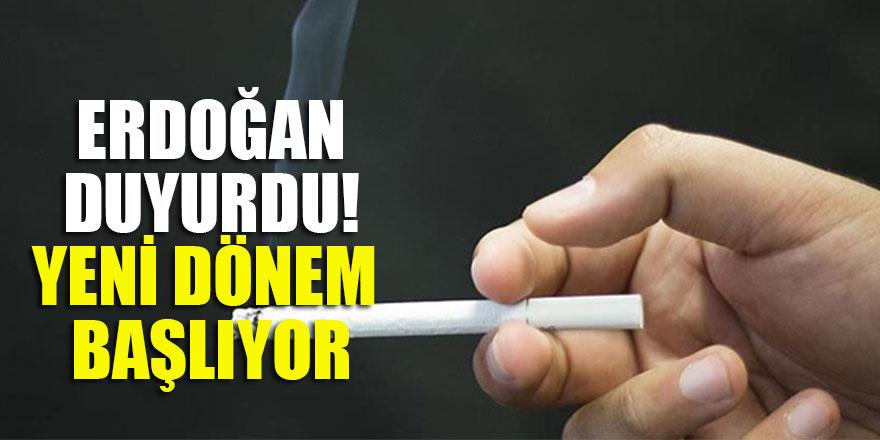 Erdoğan duyurdu! Yeni dönem başlıyor