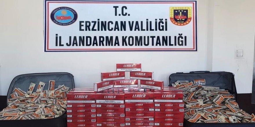 Erzincan'da bin 480 paket kaçak sigara ile 961 paket sigara tütünü ele geçirildi