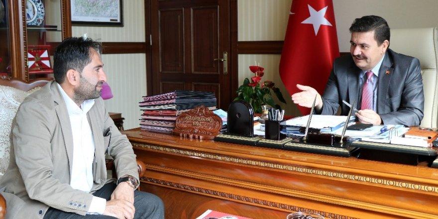 İHA Bölge Müdürü Akbuğa'dan Vali Arslantaş'a ziyaret