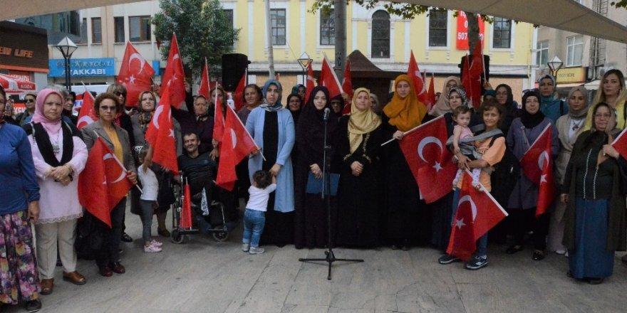 Ordulu kadınlardan Diyarbakır'da eylem yapan ailelere destek