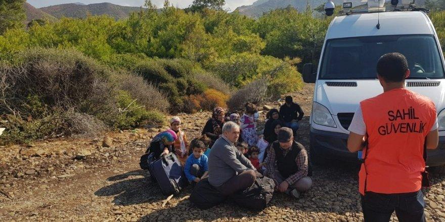 Muğla'da 62 göçmen ve bir organizatör yakalandı