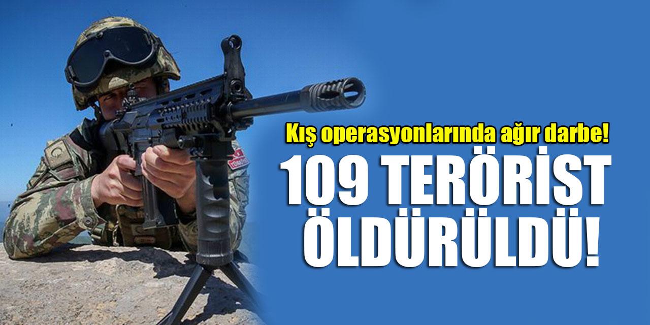 Kış operasyonlarında ağır darbe! 109 terörist etkisiz hale getirildi