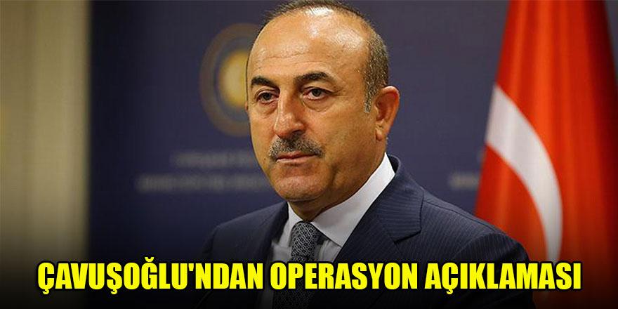 Çavuşoğlu'ndan operasyon açıklaması