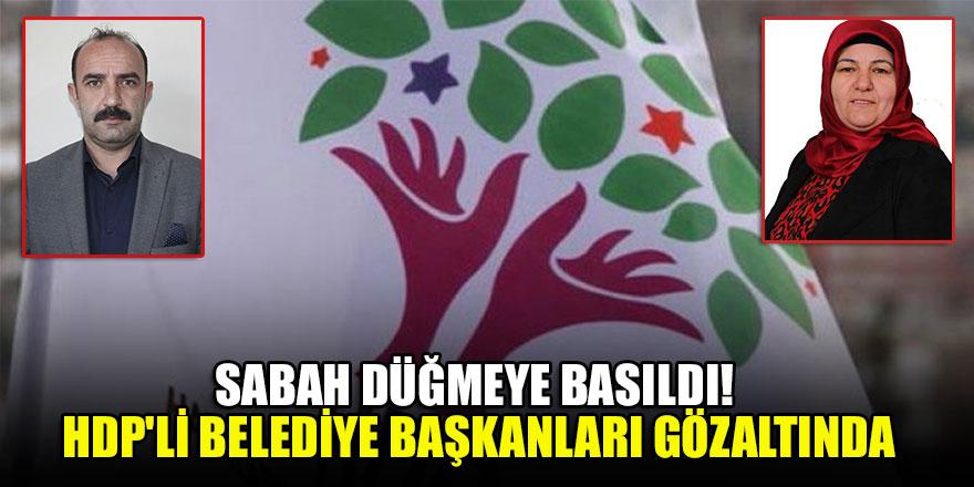 Sabah düğmeye basıldı! HDP'li Belediye başkanları gözaltında