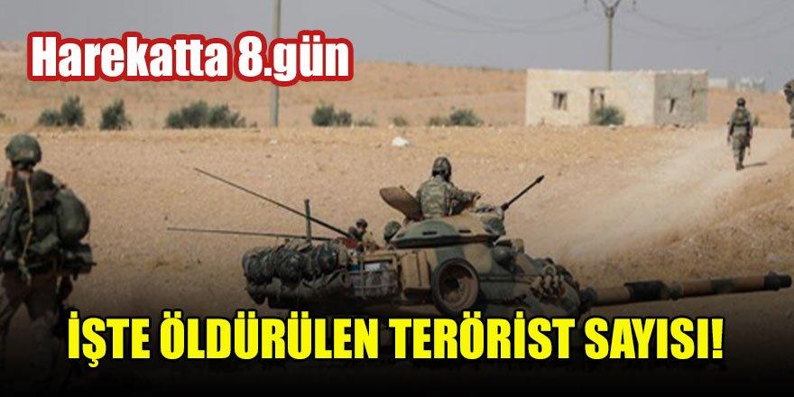 Harekatta 8.gün İşte öldürülen terörist sayısı!