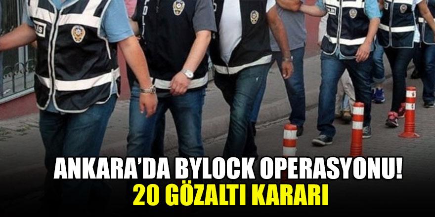 Ankara'da FETÖ soruşturmasında 20 gözaltı kararı