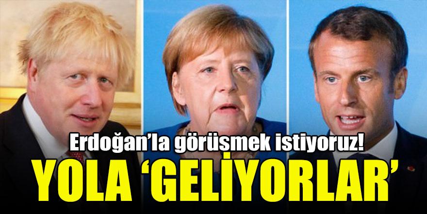 Macron: Merkel ve Johnson ile Cumhurbaşkanı Erdoğan ile görüşeceğiz