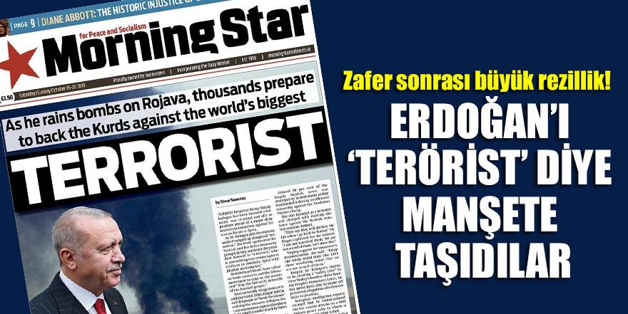 Zafer sonrası büyük rezillik! Erdoğan'ı 'terörist' diye manşete taşıdılar