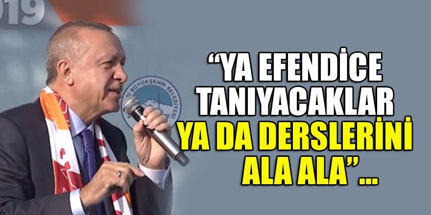 Cumhurbaşkanı Erdoğan'dan'harekat' ile ilgili önemli mesajlar