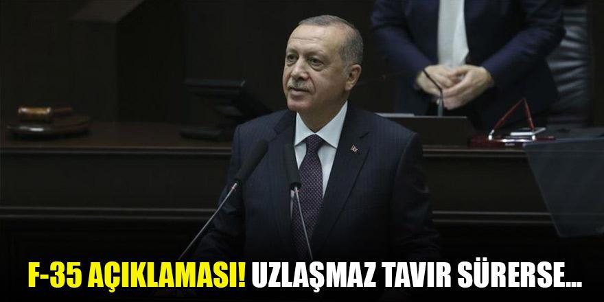 Erdoğan'dan F-35 açıklaması! Uzlaşmaz tavır sürerse...