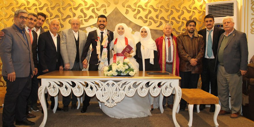Selahaddin Eyyubi Mahallesi Muhtarı Mehmet Elma oğlunu evlendirdi