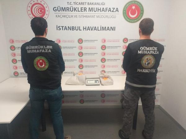 İstanbul Havalimanı'nda 4 kilo 595 gram kokain ele geçirildi