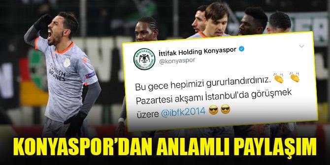 Konyaspor'dan Başakşehir'e anlamlı paylaşım