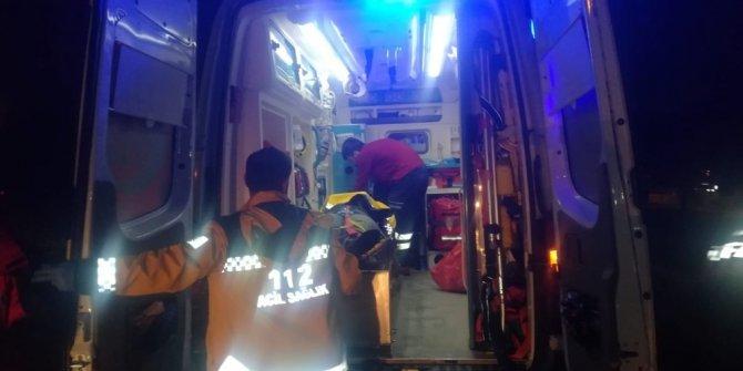 Dereye düşen kadın ekiplerce kurtarıldı