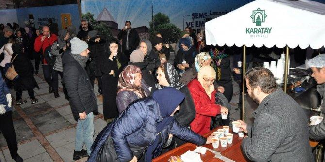 Karatay Belediyesi'nden Şeb-i Arus'a özel çorba ve sahlep ikramı