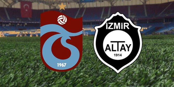 Trabzonspor Altay karşısındaki 11'i belli oldu