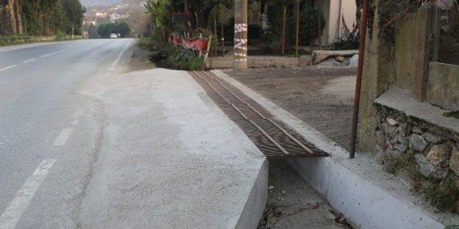 Yanık, İzmit Caddesinde yağmur suyu kanal çalışması tamamlandı