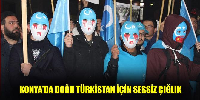 Konya'da Doğu Türkistan için Sessiz Çığlık