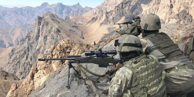 Irak'ın kuzeyi Zap bölgesinde 2 PKK'lı terörist etkisiz hale getirildi