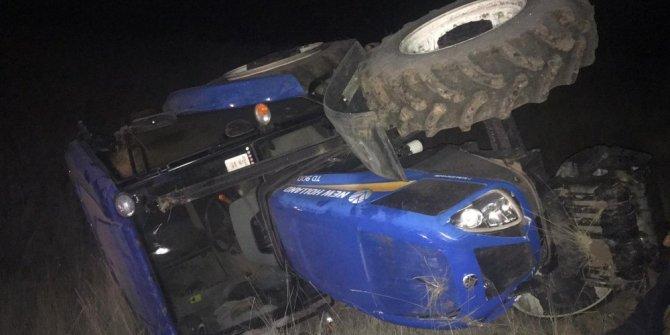 Traktör altında kalan sürücü hayatını kaybetti