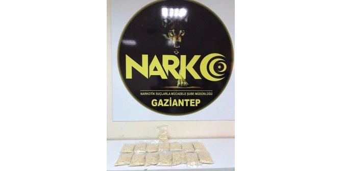 Gaziantep'te 15 bin adet uyuşturucu hap ele geçirildi
