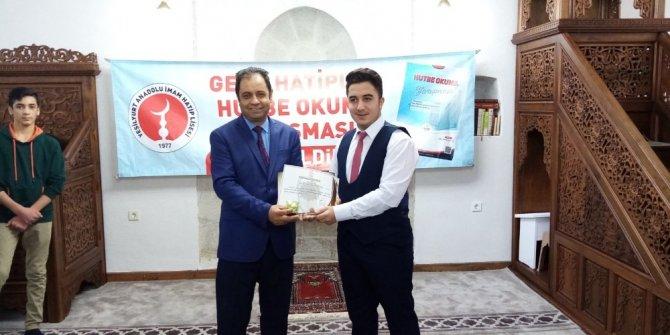 Malatya'da 'Hutbe okuma yarışması' düzenlendi