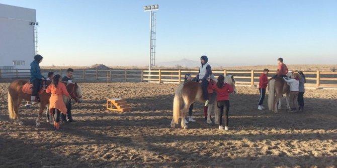 NEVÜ AT-BİN'den engelli bireylere özgü at destekli aktivite uygulama eğitimi