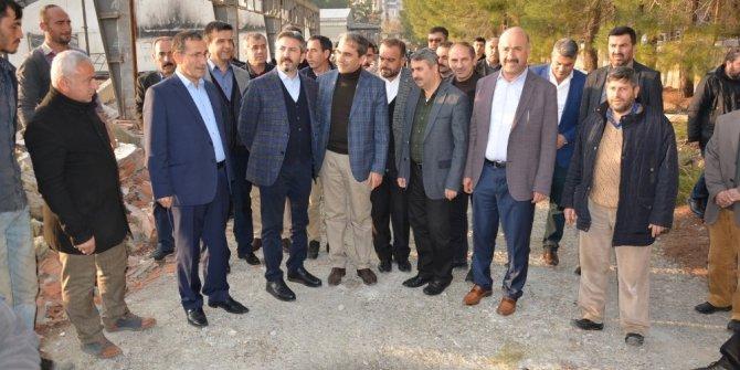Milletvekili Aydın, Besni millet bahçesinin yapılacağı yeri inceledi